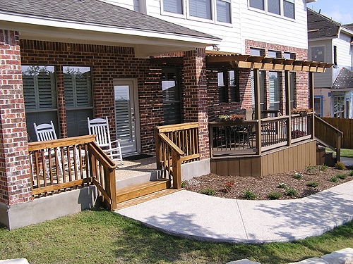 Cedar Arbor and Composite Deck