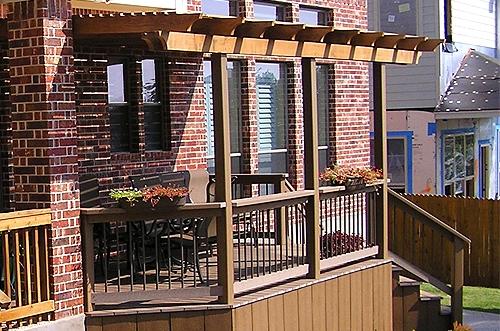 Composite Deck with Cedar Arbor