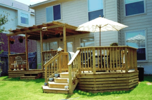Treated Lumber Partial Arbor Deck Cover