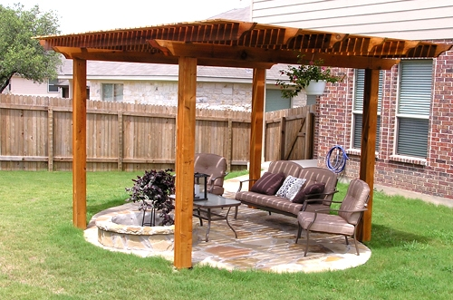 Arbor with Custom Flagstone Work