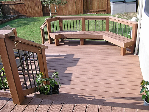 Composite Deck with Composite Bench Seating