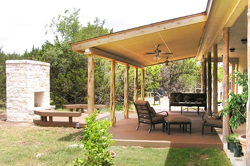 Elegant Covered Deck