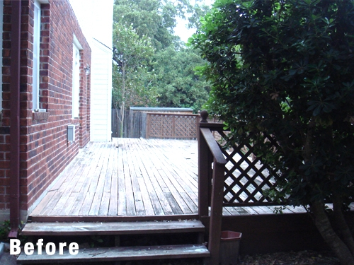 Old Treated Pine Deck