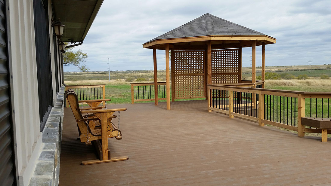 Composite Deck with Cedar Gazebo