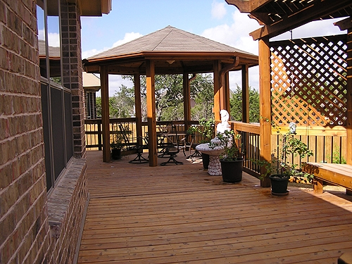 Stained Cedar Gazebo and Deck