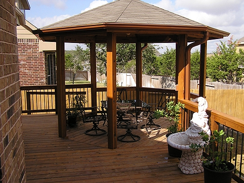 Octagonal Cedar Gazebo and Deck