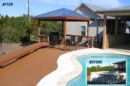 Raised Custom Pool Surround Deck
