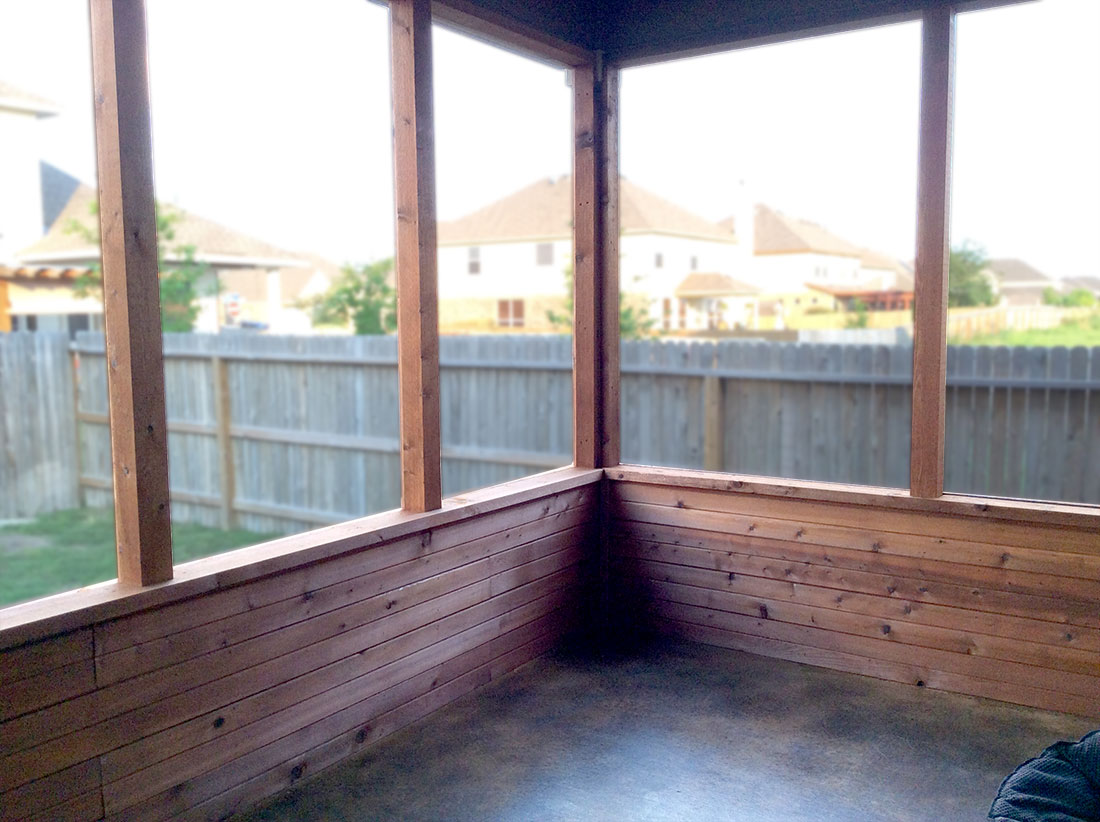 Cedar Siding with Stained Concrete Floor