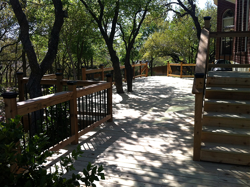 Treated Pine Deck in Live Oak Stand
