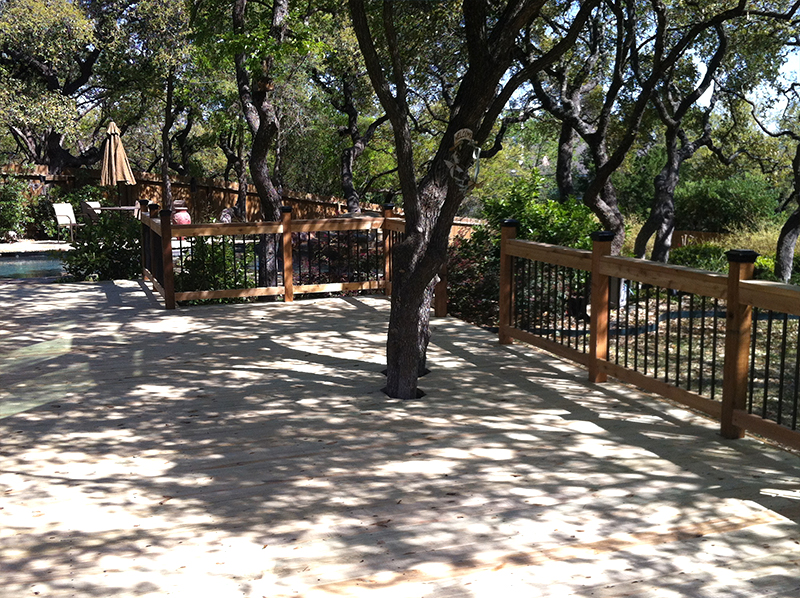 Large Treated Pine Deck Built Around Existing Trees