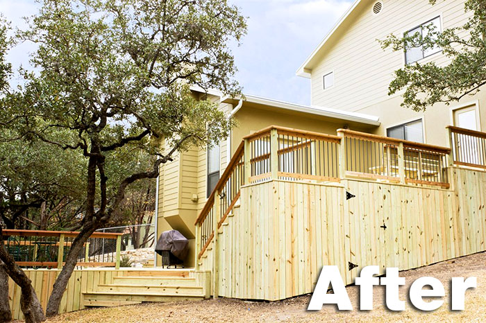 After: Beautiful Treated Pine Replacement Deck