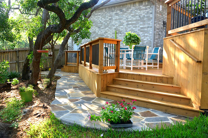 Stained Deck Compliments Home