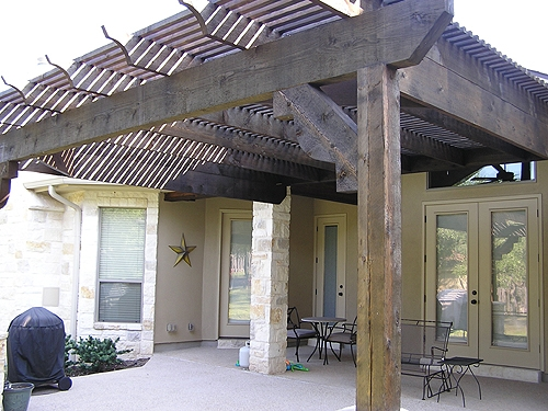 Stained Cedar Arbor to Match Home