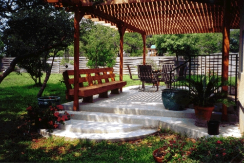 Redwood Arbor and Matching Bench