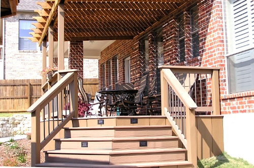 Composite Deck with Cedar Arbor