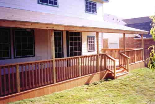 Covered Cedar Patio Deck