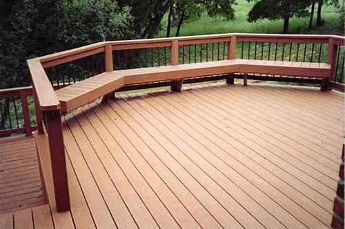 Split-Level Composite Deck with Bench Seating