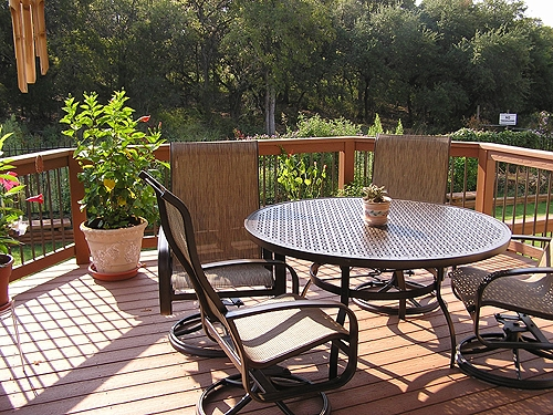 Composite Deck, Seating Area with a View