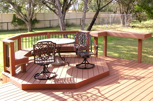 Combination Composite Deck and Cedar Pergola