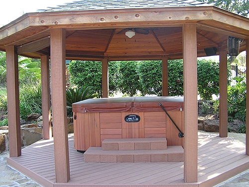 Cedar Gazebo with Composite Floor
