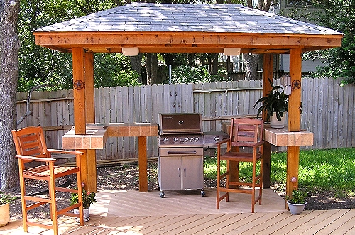 Outdoor Kitchen wired for light and sound