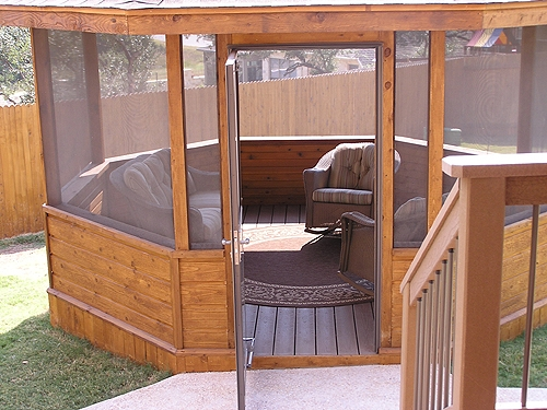Cedar Gazebo with Glass Door