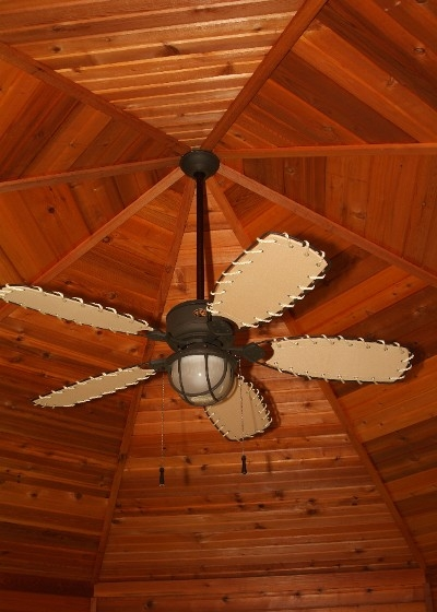 Cedar Gazebo Octagonal Ceiling and Fan