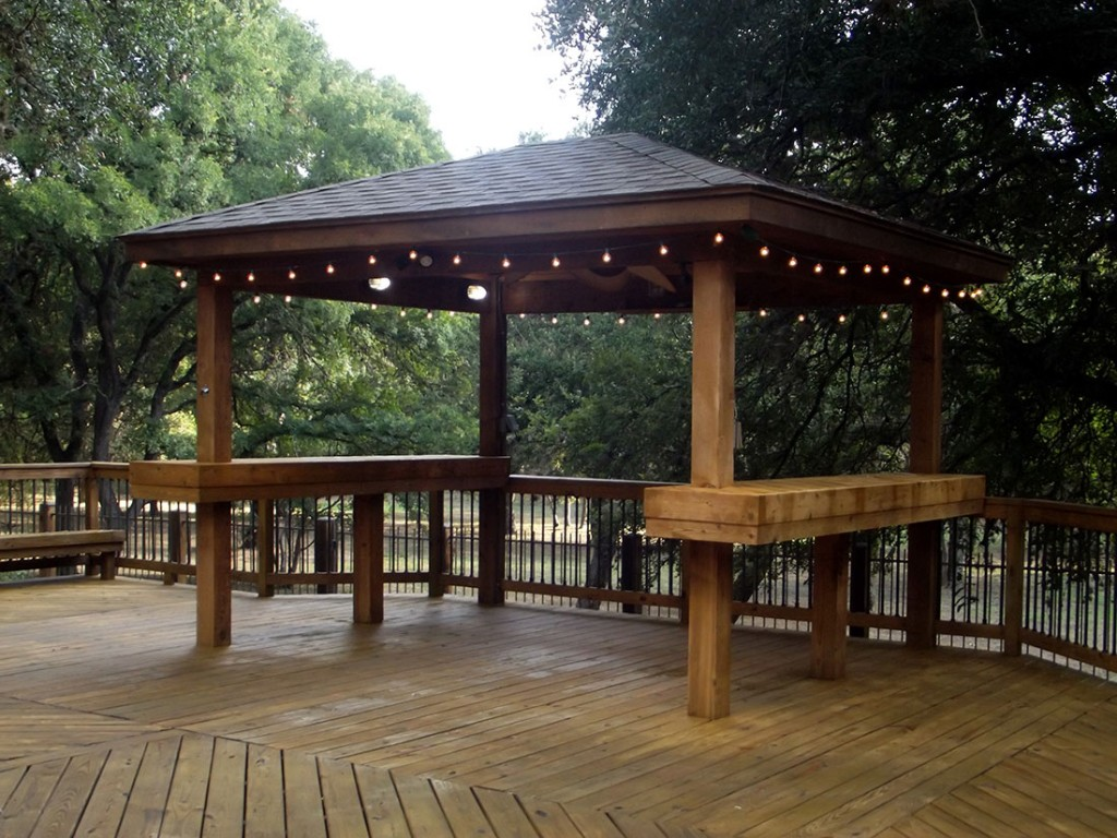 Cedar Gazebo with Treated Pine Deck