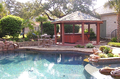 Pool Side Spa Tub Gazebo