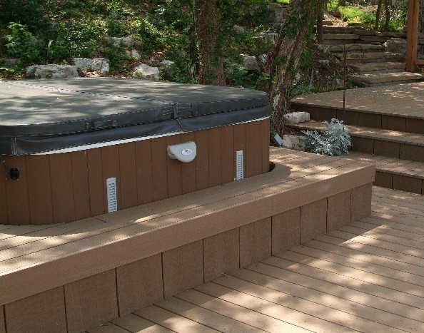 Custom Composite Hot Tub Deck