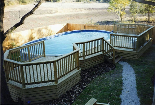 Treated Lumber Pool Deck