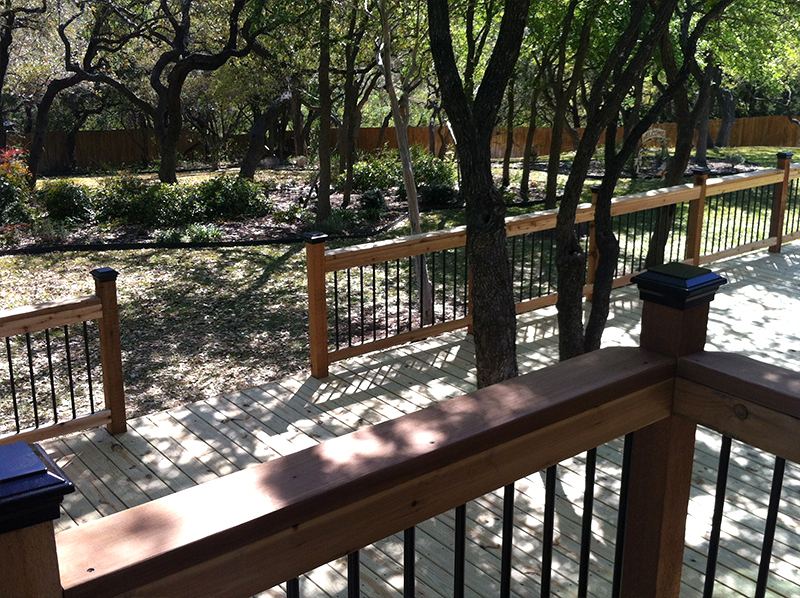 Improved View from a Multi-Level Treated Pine Deck
