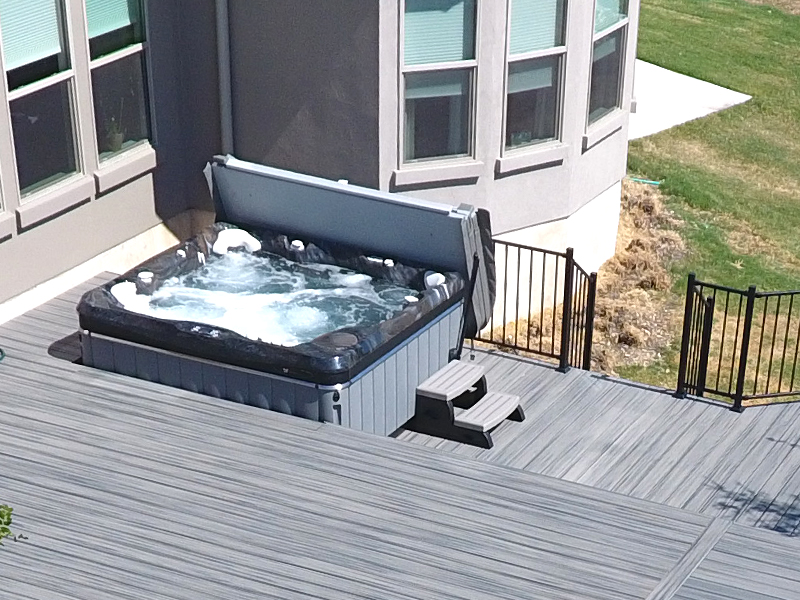 Hill Country Spa Trex Composite Deck