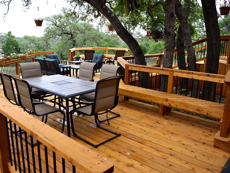 Treated Cedar Split-Level Deck