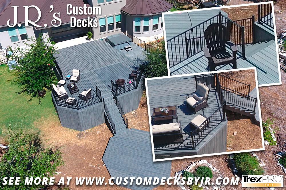 Hill Country Trex Composite Multi-Level Deck