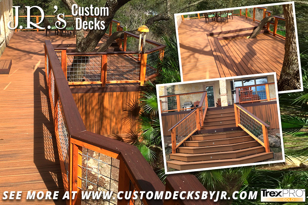 Trex Composite Deck with Galvanized Panels