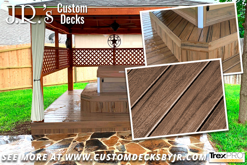Covered Composite Spa Deck